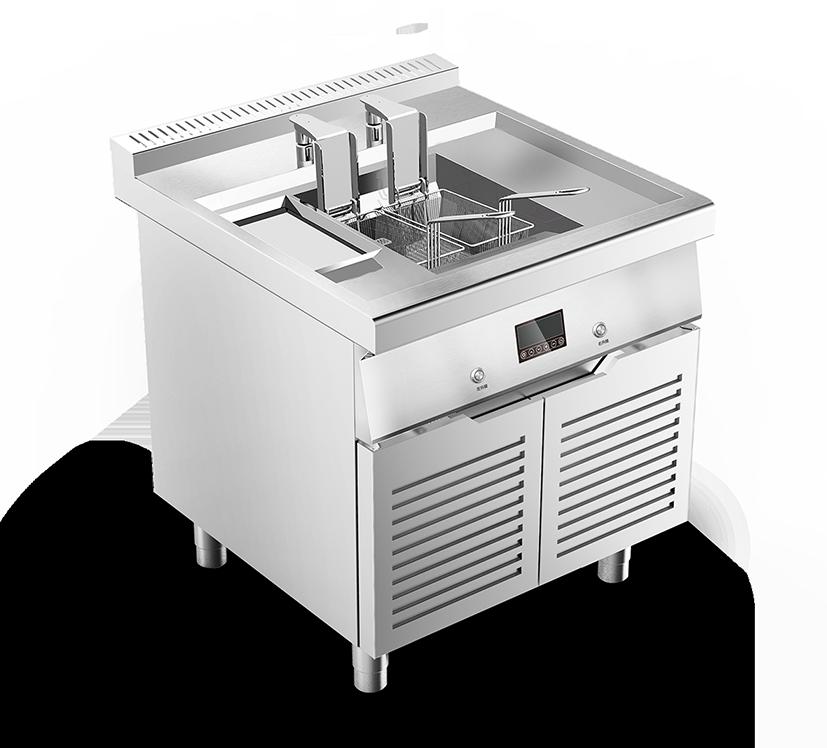 电磁升降油炸炉-D800